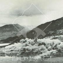 Dynamitage de l'ancien village de Savines