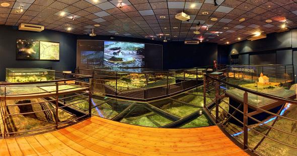 Salle des maquettes au Muséoscope du Lac