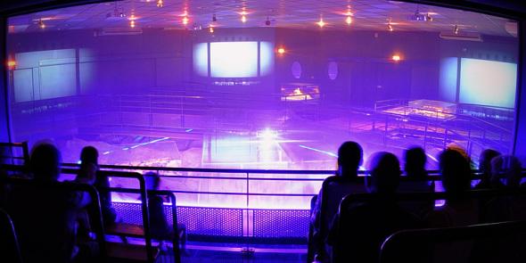 Visite et effets jeux de lumières